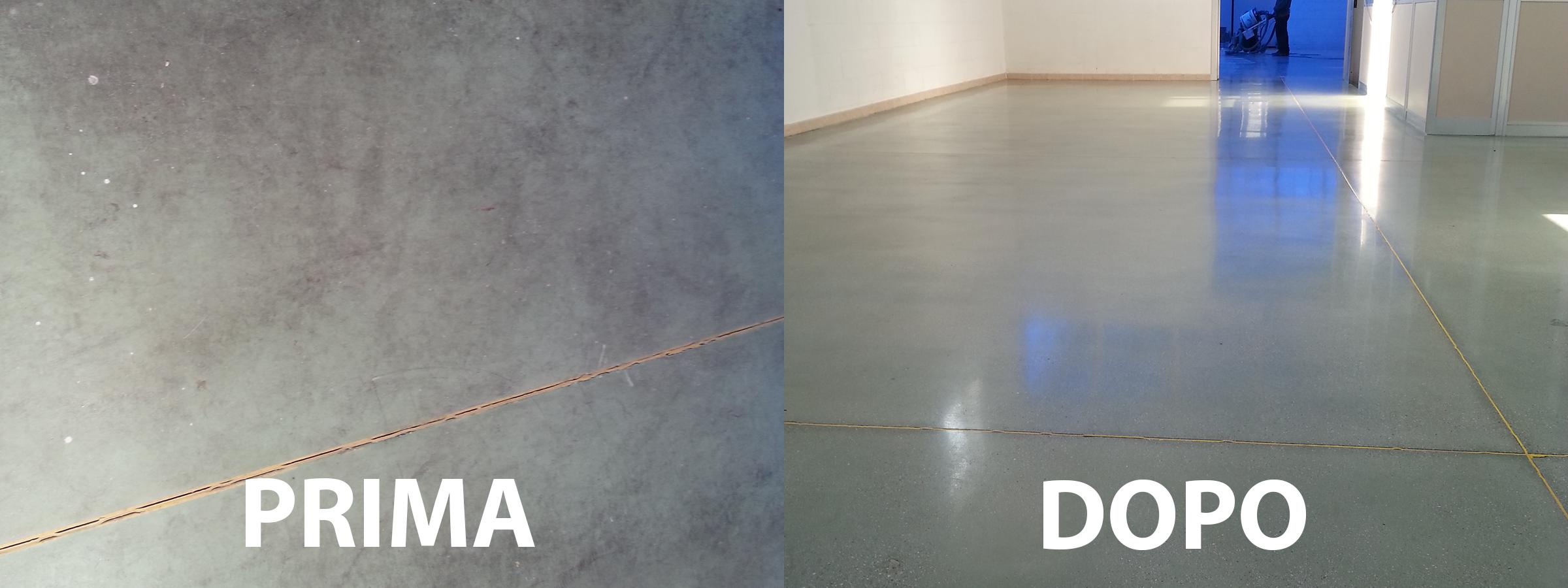 trattamento del pavimento cemento