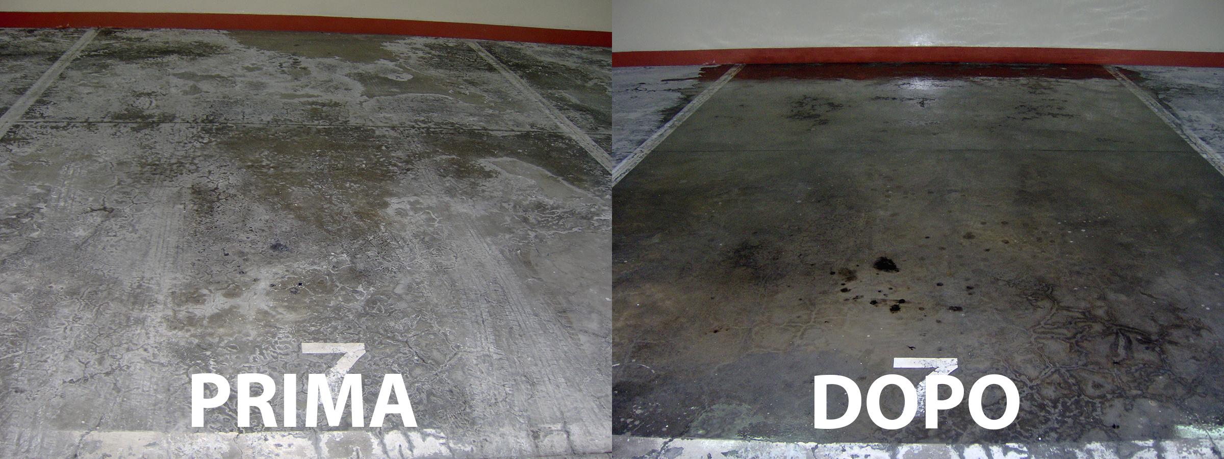 trattamento e pulizia pavimento box