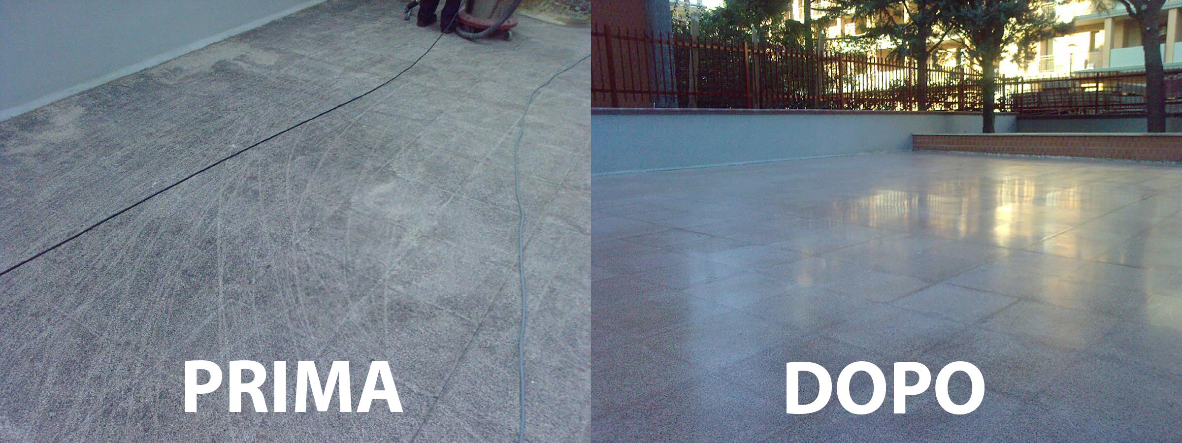 trattamento e pulizia pavimenti esterni